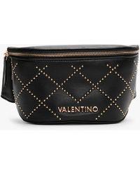 Valentino By Mario Valentino Mandolino Black Studded Belt Bag