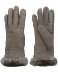 Ugg | Women'S Exposed Slim Tech Stormy Grey Gloves | Lyst