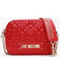 Love Moschino Quilted Red Camera Bag