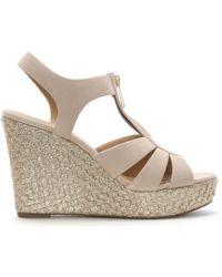 Michael Kors - Berkley Oyster Suede Wedge Sandals - Lyst