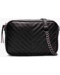 Daniel Delilah Black Leather Quilted Cross-body Bag