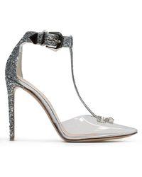 Nicholas Kirkwood Karlie 105mm Silver Glitter Embellished Heeled Court Shoes - Metallic