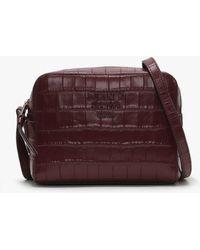 DKNY - Noho Blood Red Leather Moc Croc Camera Bag - Lyst
