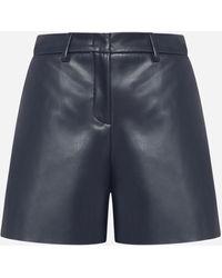 Blanca Vita Santore Faux Leather Shorts - Blue