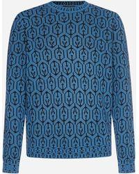 Prada Pull in lana vergine e cashmere - Blu