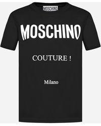 Moschino T-shirt in cotone con logo - Nero