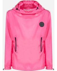 Off-White c/o Virgil Abloh Nylon Packaway Rain Sweatshirt With Logo - Pink