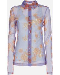 Sportmax Camicia Mogador con stampa floreale - Multicolore