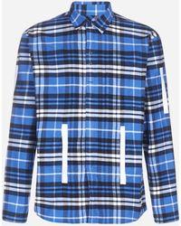 Craig Green - Grosgrain-trimmed Checked Cotton-flannel Shirt - Lyst