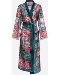 F.R.S For Restless Sleepers Abito a kimono Nomos in seta con stampa floreale - Multicolore