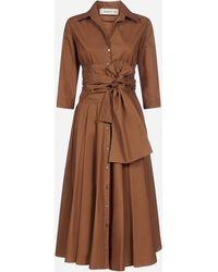 Blanca Vita Azalea Cotton Shirt Dress - Brown