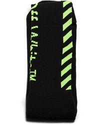 Off-White c/o Virgil Abloh Diagonal Striped Socks - Black