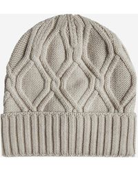 Lardini Cable-knit Wool Beanie - Multicolour