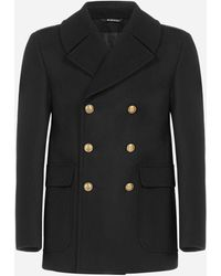 Givenchy Virgin Wool Double-breasted Pea Coat - Black
