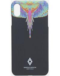 Marcelo Burlon Fluo Wings Xs Max Case - Blue