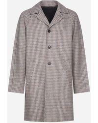 Prada Cappotto in lana Shetland - Grigio