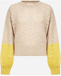 See By Chloé Color-block Alpaca And Wool-blend Jumper - Natural
