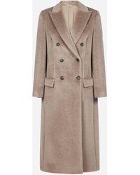 Brunello Cucinelli Cappotto doppiopetto in alpaca e lana vergine - Multicolore
