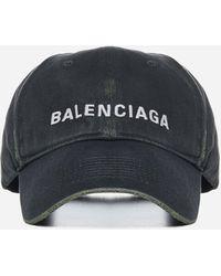 Balenciaga Logo Cotton Baseball Cap - Multicolour