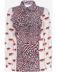 Prada Lips And Hearts Printed Shirt - Multicolour