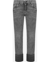 Dolce & Gabbana Slim-fit Cropped Jeans - Grey