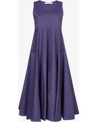 Blanca Vita Agave Cotton-blend Dress - Blue