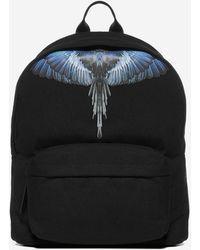 Marcelo Burlon Wings Canvas Backpack - Black