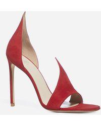 Francesco Russo Suede Sandals - Red