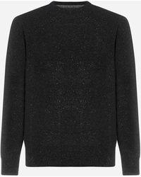 Barbour Pull Tisbury in lana - Nero