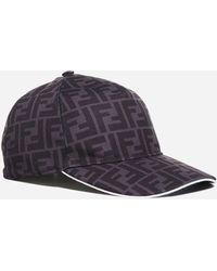 Fendi Ff-logo Cotton Baseball Cap - Multicolour