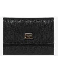 Dolce & Gabbana - Logo-plaque Leather Wallet - Lyst