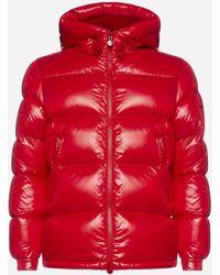 Moncler Piumino Ecrins in nylon lucido trapuntato - Rosso