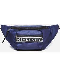 Givenchy Marsupio Light 3 in nylon con logo - Blu