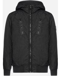 Stone Island Nylon Hooded Jacket - Black