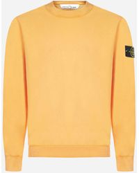 Stone Island Cotton Sweatshirt - Orange