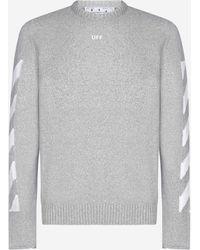 Off-White c/o Virgil Abloh Arrows Cotton-blend Sweater - Gray