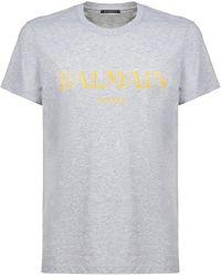 Balmain T-shirt Logo - Bianco