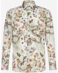 Etro Camicia in cotone con stampa botanica - Multicolore