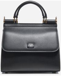 Dolce & Gabbana Sicily 58 Small Leather Bag - Black
