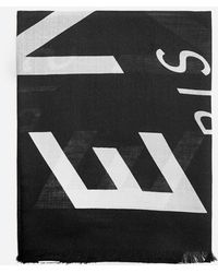 Givenchy Logo Wool And Silk Scarf - Black