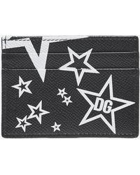 Dolce & Gabbana Star Print Cardholder - Black