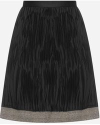 Giorgio Armani Pleated Fabric Skirt - Black