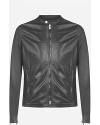 Tagliatore Stanley Leather Jacket - Black