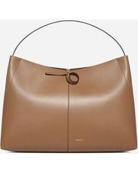 Wandler Ava Leather Big Tote Bag - Brown