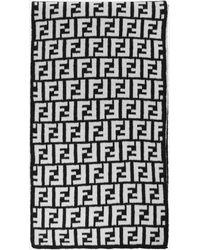 Fendi Ff Logo Wool Scarf - Black