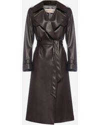 Blanca Vita Tulipa Faux-leather Trench Coat - Black