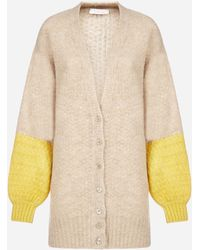 See By Chloé Color-block Alpaca And Wool Blend Cardigan - Natural