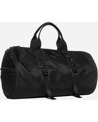Prada Logo-plaque Nylon Duffel Bag - Black