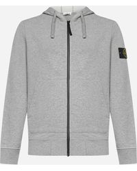 Stone Island Cotton Zip Hoodie - Grey