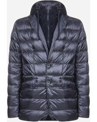 Herno Buttoned Puffer Jacket - Blue